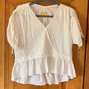Anthropology Maeve peasant top
